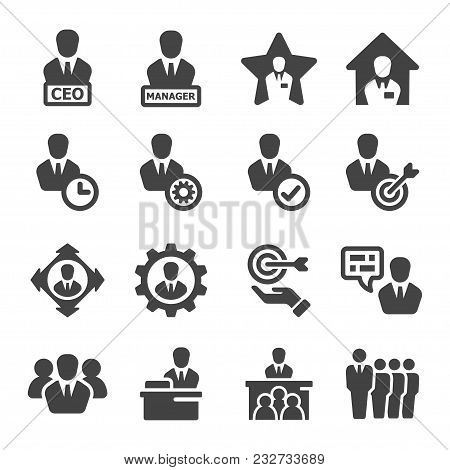 Manager And Ceo Icon Set Vector And Illustration