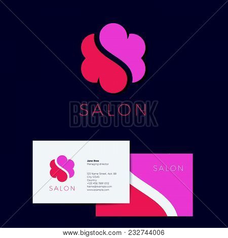 S Monogram And Identity. S Flower And Cloud Logo.  S Monogram And Identity. S Flower Or Cloud Logo.