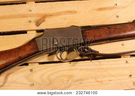 A Martini-henry Rifle A  Breech-loading Single-shot Lever-actuated Rifle Used By The British Army.