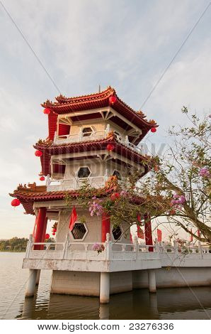 Single Chinese Pagoda