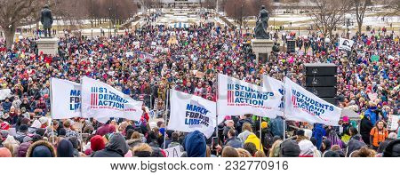 The March For Our Lives March In St. Paul, Minnesota, Usa.