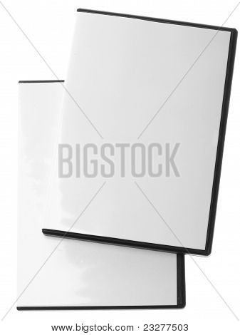 Blank Dvd Case On White