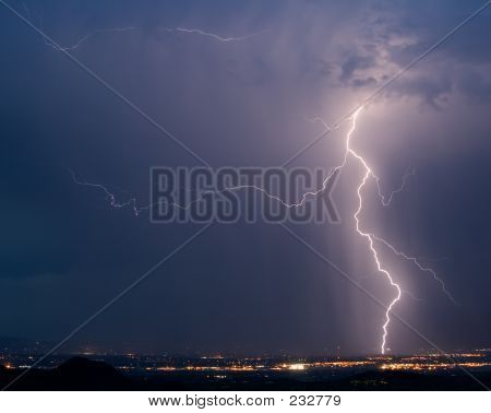 Lightning Over Tucson