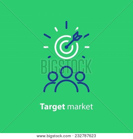 Target Market Concept, Audience, Focus Group, Crowdsourcing And Crowdfunding, Public Relations, Vect