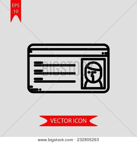Student Card Icon Vector In Modern Flat Style For Web, Graphic And Mobile Design. Student Card Icon