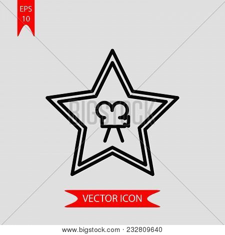 Cinema Star Icon Vector In Modern Flat Style For Web, Graphic And Mobile Design. Cinema Star Icon Ve