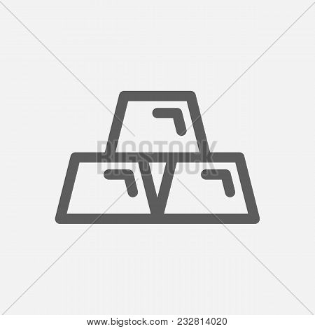 Gold Icon Line Symbol. Isolated Vector Illustration Of  Icon Sign Concept For Your Web Site Mobile A