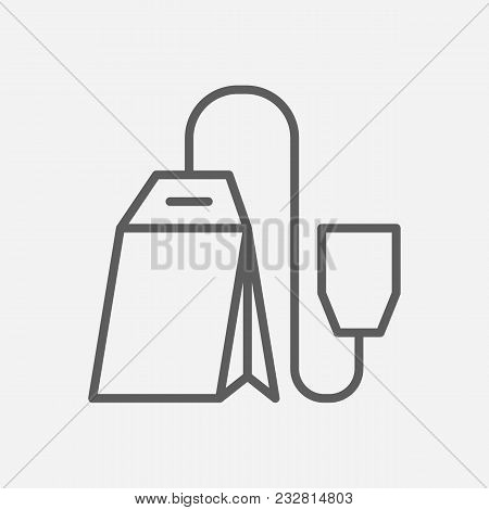 Teabag Icon Line Symbol. Isolated  Illustration Of  Icon Sign Concept For Your Web Site Mobile App L
