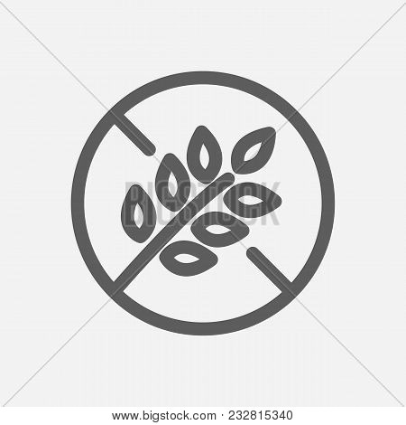 Gluten Free Icon Line Vector & Photo (Free Trial) | Bigstock