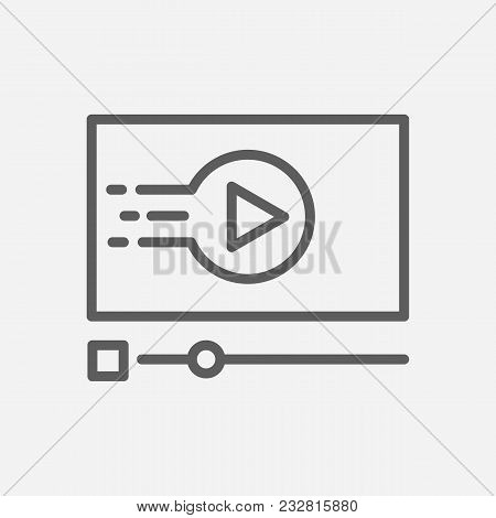Video Streaming Icon Line Symbol. Isolated Vector Illustration Of Live Stream Sign Concept For Your