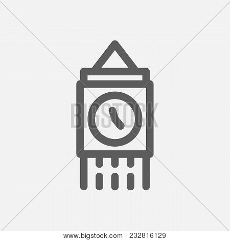 Travel City Series. Symbol Of Country London City Icon. Isolated Vector Illustration Of Big Ben, Lon