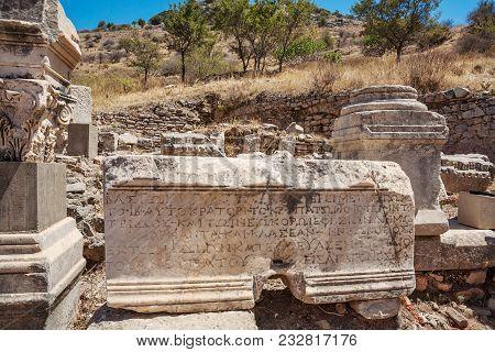 Ruins Of The Antcient Ephesus. Selcuk In Izmir Province, Turkey