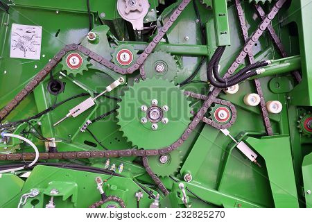 Kaunas, Lithuania - March 23: John Deere Tractor Engine On March 23, 2018 In Kaunas, Lithuania. John