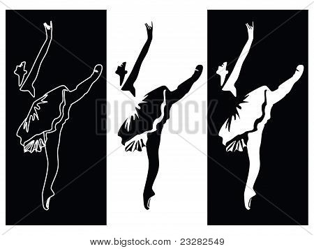 Ballet dancer banners vector
