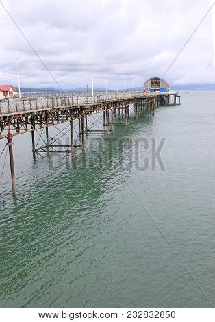Mumbles Pier In Swansea Bay In Wales