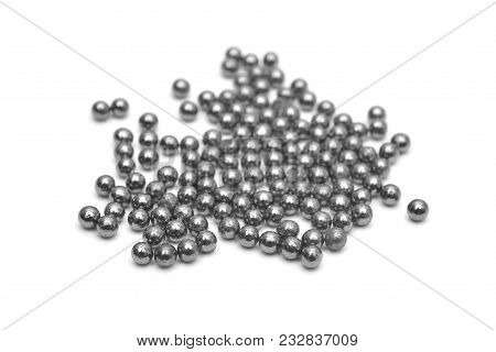 Heap Of Lead Shot Isolated On White