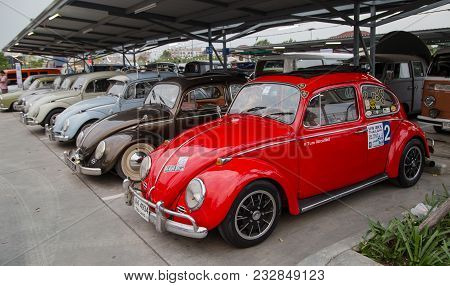 Nonthaburi, Thailand - March 10, 2018: International Vw Owners Gathering In Volkswagen Club Meeting