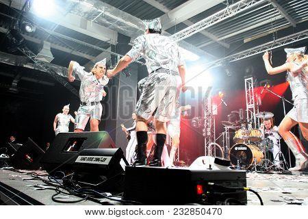 Brovary. Ukraine. 31.03.2007: Popular Ukrainian Dance Comedy Singer Andriy Danylko Better Known For