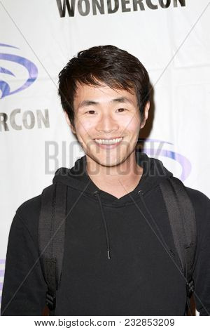 Christopher Larkin attends day one of the 32nd Annual WonderCon Convention in Anaheim, CA on March 23, 2018.