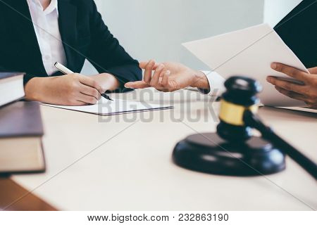 Law, Advice And Legal Services Concept.
