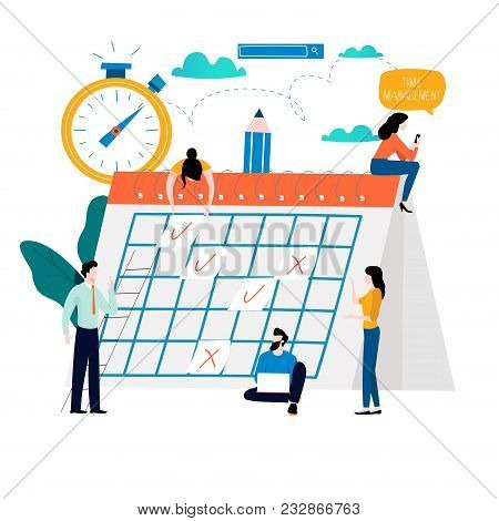 Time Management, Planning Events, Organization, Time Optimization, Deadline, Planning Schedule Flat