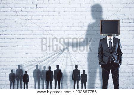 Abstract Tv Brainwash Backdrop