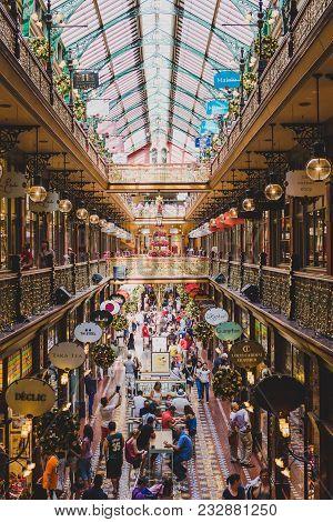 Sydney, Australia - December 16th, 2013: View Of The Strand Arcade, An Historic Arcade In Sydney Cbd