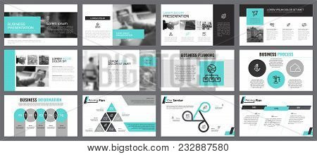 Blue, White And Grey Infographic Design Elements For Presentation Slide Templates. Business And Econ