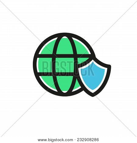 Illustration Design Of Business Shield And Earth