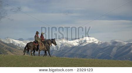 Cowboys Riding The Range