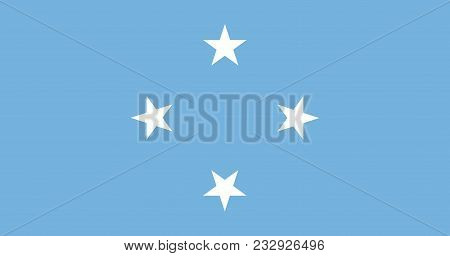 Flag Of Federated States Of Micronesia Official Colors And Proportions, Vector Image