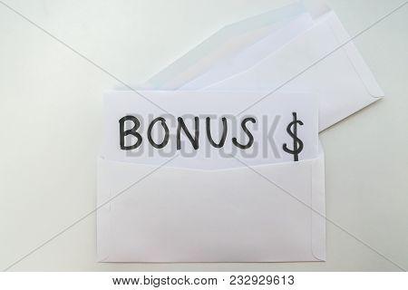 Isolated Envelope Of Yearly Bonus For Employee Reward