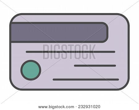 Access Card Pictogram Isolated On White Background Illustration. Business Protection, Security Monit