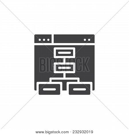 Sitemap Vector Icon. Filled Flat Sign For Mobile Concept And Web Design. Website Flowchart Simple So