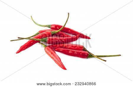 Red Chilli An Isolated On White Background
