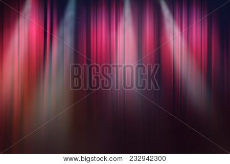 Blurred Lights On Stage, Drama Theatre Show Background