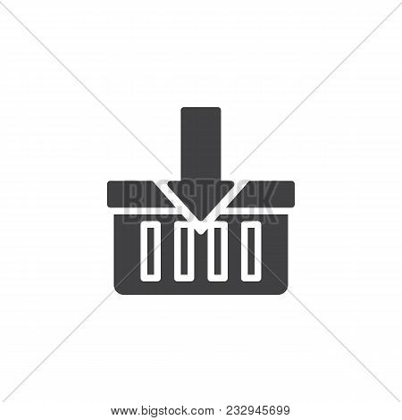 Add To Cart Vector Icon. Filled Flat Sign For Mobile Concept And Web Design. Add To Shopping Basket