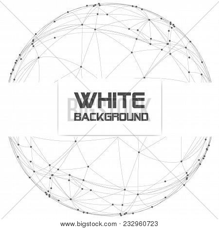 Dots With Connection In Circle Frame White Background Vector Image