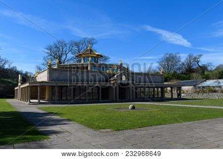 Manjushri Kadampa Buddhist Temple Of World Peace At Connishead Priory In Ulverston, Cumbria
