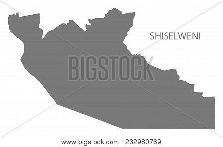 Shiselweni Map Of Swaziland Grey Illustration Shape