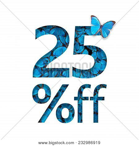 25% Off Discount. The Concept Of Spring Or Sammer Sale, Stylish Poster, Banner, Promotion, Ads.