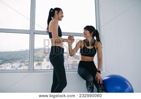 Friends Taking A Break After Working Out