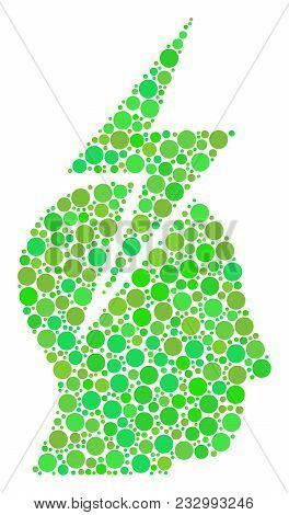 Person Stress Strike Composition Of Filled Circles In Variable Sizes And Fresh Green Color Hues. Vec