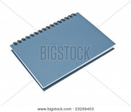 Stack Of Ring Binder Book Or Blue Notebook