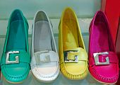 Different colors female shoe is it isolated poster