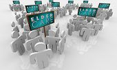 Elder Care Assisted Living Home Elderly Older People Signs 3d Illustration poster