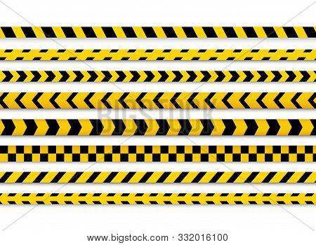 Police Caution Danger Line. Warning Barrier. Barricade Tape, Do Not Cross