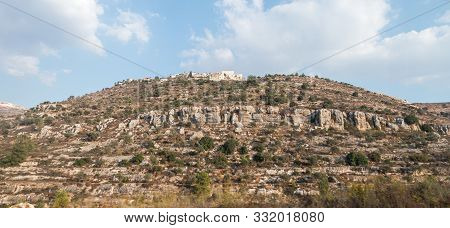 Rosh Haayin, Israel, October 31, 2019 : View From The Highway Number 5 To The Palestinian Village Ay