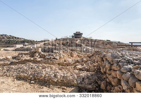 Rosh Haayin, Israel, October 31, 2019 : Archaeological Excavations Of The Ancient Shiloh And Visitor