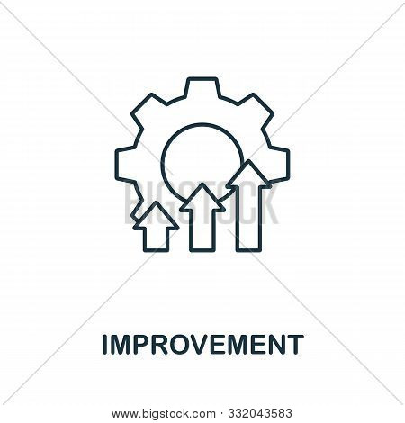 Improvement Icon Outline Style. Thin Line Creative Improvement Icon For Logo, Graphic Design And Mor